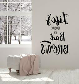 Vinyl Wall Decal Beauty Salon Girl Brows Maker Master Quote