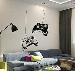 Vinyl Wall Decal Joystick Video Game Play Room Gaming Boys S