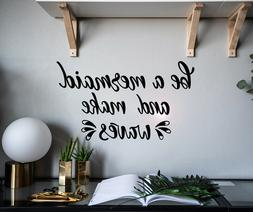 Vinyl Wall Decal Quote Be Mermaid And Make Waves Stickers 22
