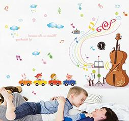 BIBITIME Violin Concert Rainbow Musical Notes Animal Pig Rab