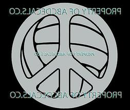 VRS Peace Sign Love Volleyball Water Polo Ball CAR DECAL VIN