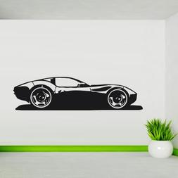 Wall Decal Car Race Sports Bolide Driving Fast Drive room M1