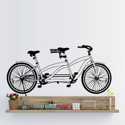 Wall Decal Tandem Bike Sport Bicycle Cycle Nursery M1290