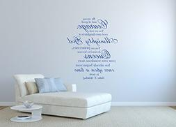 """Wall Decals for Teen Girls, Christian Vinyl Lettering, """"You"""