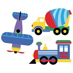 Wallies Wall Decals, Olive Kids Trains, Planes and Trucks Wa