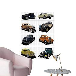 Wall Decals Rare Fifties Vintage Cars with Roof Tops Origina