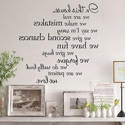 "Wall Decals Stickers, Kredy ""in this house"" Alphabet 3D Home"