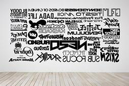 Wall Room Decor Art Vinyl Sticker Mural Decal Popular Dj Edm