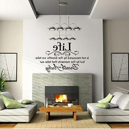 Wall Sticker, Hatop Life Is Not Measured By the Breaths We T