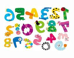 Numbers Wall Stickers - Fun and Educational Animals for Nurs