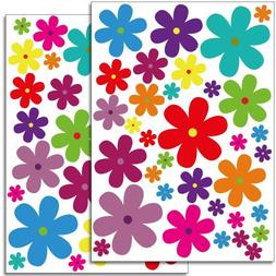 Wandkings wall stickers Colourful Flowers – Design 3 Stick