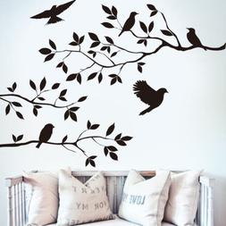 Wall stickers Decal Removable Black Bird Tree Branch Art Hom