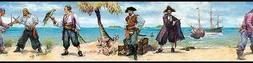 Wallpaper Border Room Mates Pirates and Ships Peel and Stick