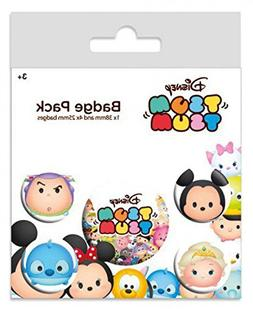 Walt Disney Badge Pack - Tsum Tsum, 1 X 38mm & 4 X 25mm Badg