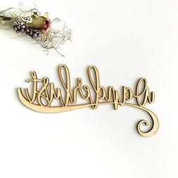"""Wanderlust Wood Sign Home Décor Wall Art Unfinished 24"""" x 1"""