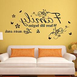 EMIRACLEZE Warm and Sweety Family Love Removable Mural Wall
