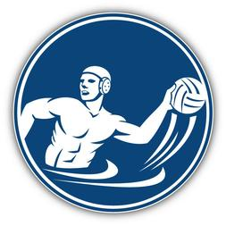 Water Polo Player Label Car Bumper Sticker Decal  - 3'' or 5