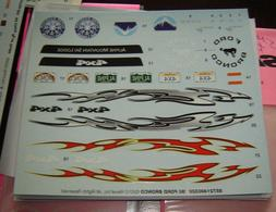 Waterslide Decal sheet for Model Car Kits 1/24-1/25 scales
