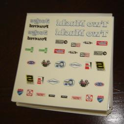 Waterslide Decal sheet for Model Car Kits 1/25 scales DODGE