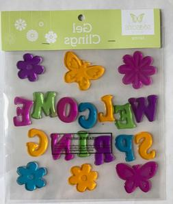 Welcome Spring Window Gel Sticker Cling Decorations classroo