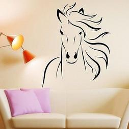 Wild Animal Horse Mustang Wall Decal Room Decor Sticker Viny