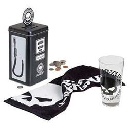 Harley-Davidson Willie G Skull Gas Pump Bank Tall Glass Gift