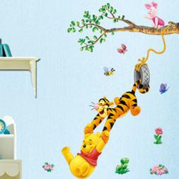 Winnie the pooh Wall Sticker Cartoon Wallpaper For Kids Baby