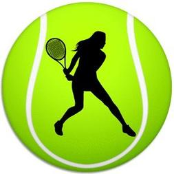 Women's Tennis Sport Ball Car Bumper Laptop Decal Sticker -