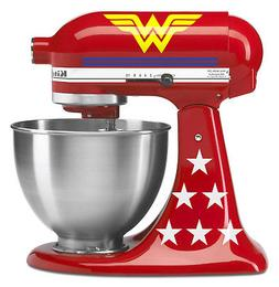 KitchenAid Deluxe kit with blue stripes! Wonder Woman decal for stand mixer
