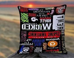 Xusuzhi Broadway Musical Collage , Pillow Case , Pillow Styl