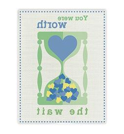 You Were Worth The Wait Print, Watch Blue, Baby shower Gift,