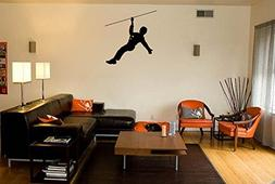 Zip Line Silhouette Vinyl Wall Words Decal Sticker Graphic